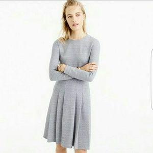 J.crew heather grey pleated ponte dress